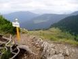 Z vrcholu se dá pohlédnout do nitra Oravské Magury, která je tady pokračováním Malé Fatry.