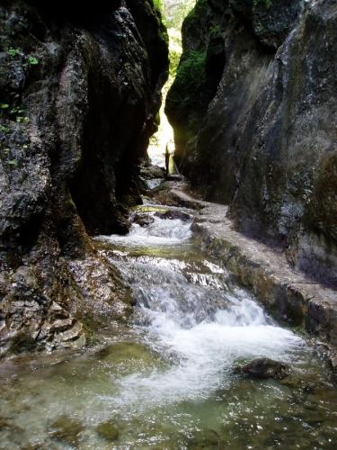 A dole za ním vše končí neuvěřitelně rychle. Najednou je kolem obyčejná řeka a les.