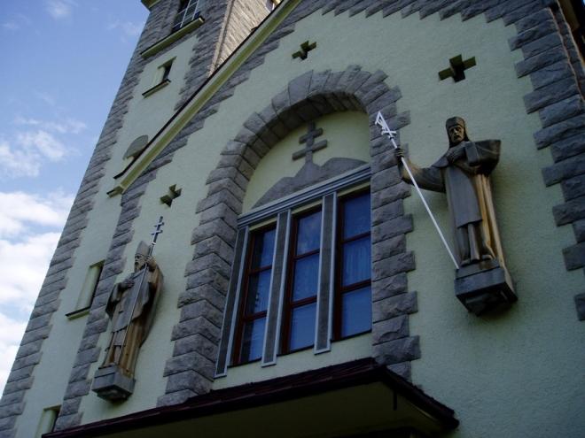 Kostel v Terchové navštěvujeme až při odjezdu.