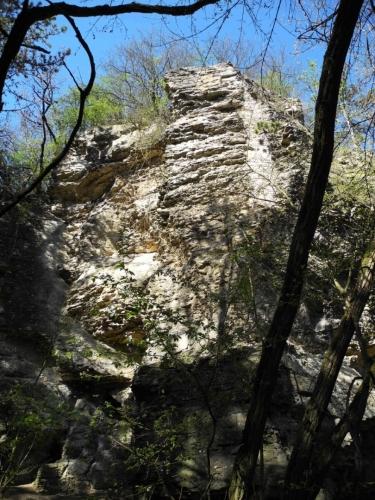 Koukolova hora poskytne daleké výhledy ze skal vrcholové plošiny...