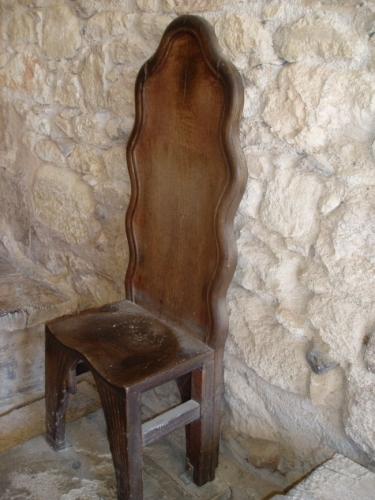 Velice pohodlná židle - podobné se vyráběly před naším letopočtem
