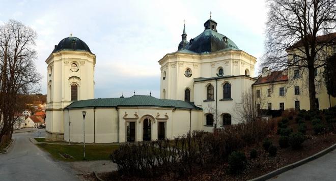 Poutní kostel Jména Panny Marie patří k nejstarším poutním místům Moravy. První zmínka náleží roku 1237. Dnešní podobu má na svědomí J. B. Santini.