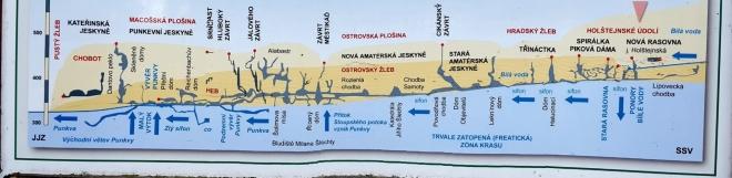 Jeskynní systém Bílé vody, Sloupského potoka a Punkvy je nejrozsáhlejším propojením jeskynních systémů v České republice.