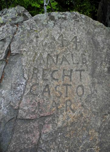 Nápis na Kluku z roku 1611 zřejmě označuje vlastnictví (recht 》 rychtář).