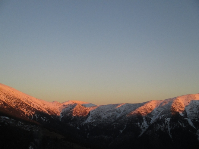 IMG_1523 - západ slunce směr Dereše (2 003m). Bez komentáře.