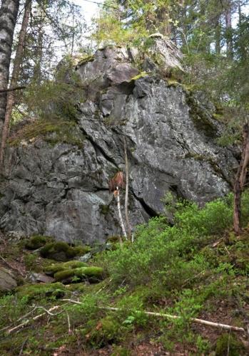 Pivní hrnec, skalní ostroh nad Teplou Vltavou.
