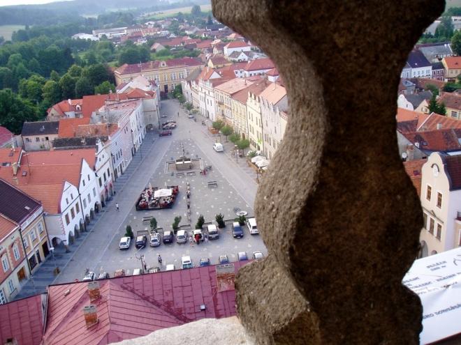 Odměnou za výstup nám je výhled na dolní i horní náměstí.