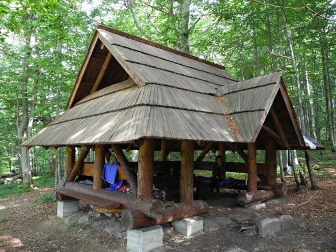 Čierťaž je místem určeným k táboření.