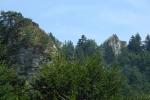 Tři Koruny a fronta na vrcholek.