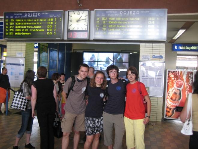První fotka v Olomouci vznikla hned na nádraží.