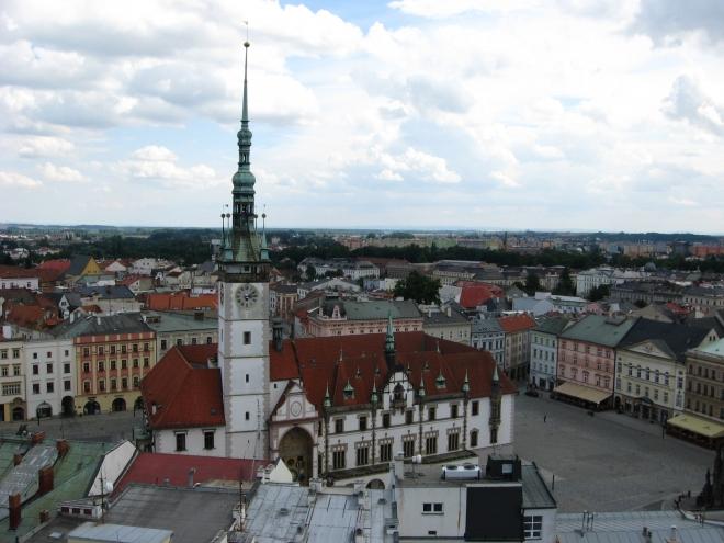 Olomouc je pěkná i z výšky.