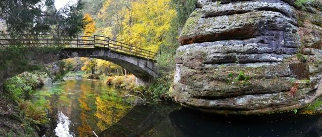 Starý most přes Kamenici.