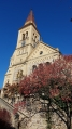 Hosínský kostel je dominantou horizontu Lišovského prahu.