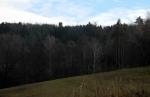 Konečně se Haniperk objevuje nad lesy.