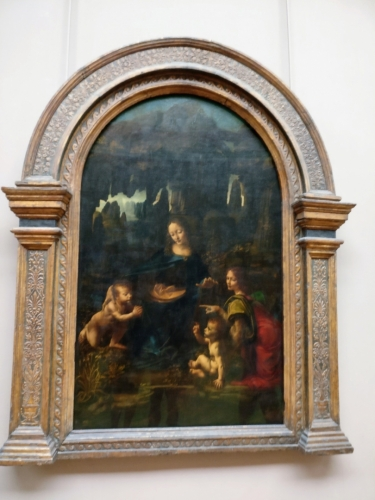 Madona ve skalách od L. da Vinciho