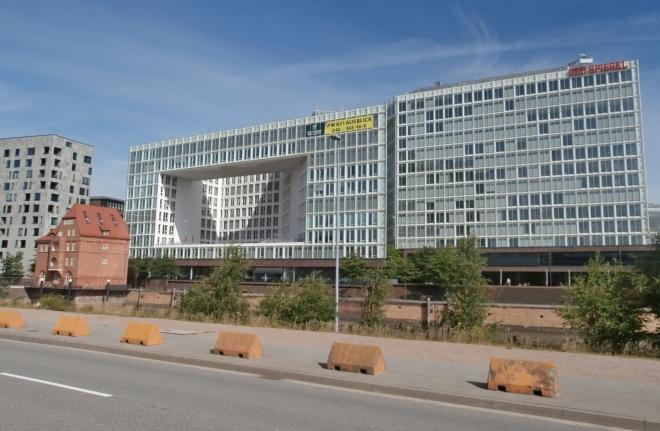 Budova zpravodajství Der Spiegel v Hamburgu