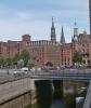 Hamburská výstavba, v pozadí kostel sv. Kateřiny