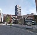 Opravená a znovu zabydlená oblast v HafenCity