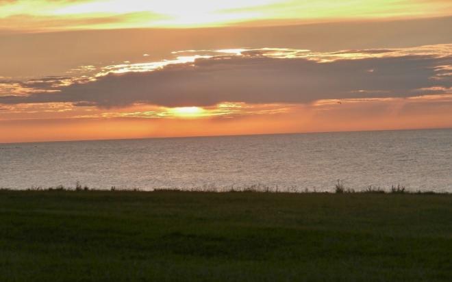 Západ slunce nad Baltem