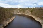 Pohled ze Zvíkovského mostu na Otavu...
