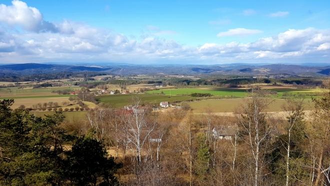 Výhled z Langovy rozhledny k západu.