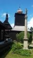 Dřevěné stavby v Liberku (kostel sv.Petra a Pavla,zvonice a fara) a Mariánský sloup.