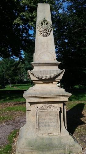 Pomník obětí prusko-rakouské války z roku 1866.