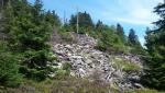 Kamenné moře na zkratce k Vápennému vrchu.