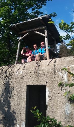 Vyhlídka na bunkru za Kamenným vrchem.