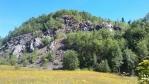 Vrch Špičák (841 m n. m.).
