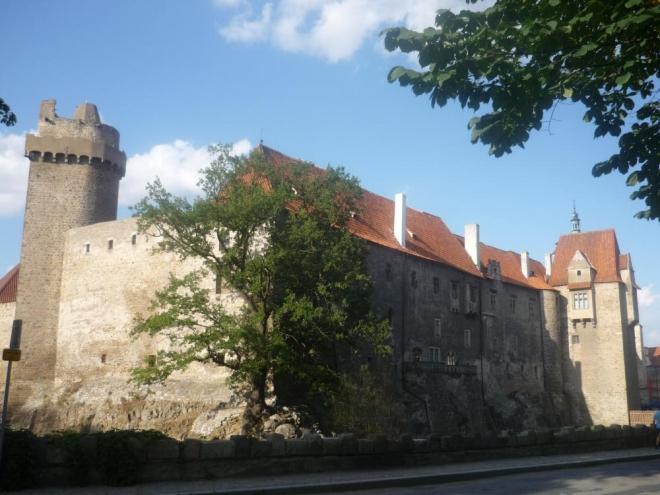 Pohled na hrad (Rumpál a Jelenka)