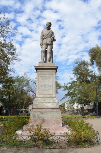Pedro de Valdivia, první chilský vládce a zakladatel Santiaga (1541)