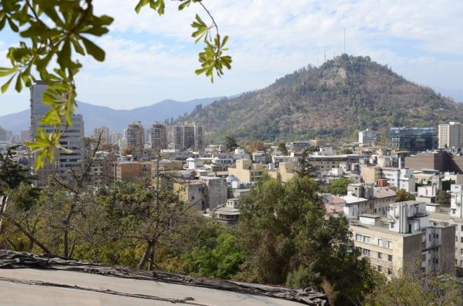 Cerro San Cristóbal, vyšší kopec za řekou. Poprvé opravdu odpočíváme, je tu moc příjemně.