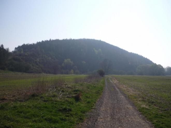 A konečně Kněží hora v celé své kráse (foceno směrem od Poříčí)