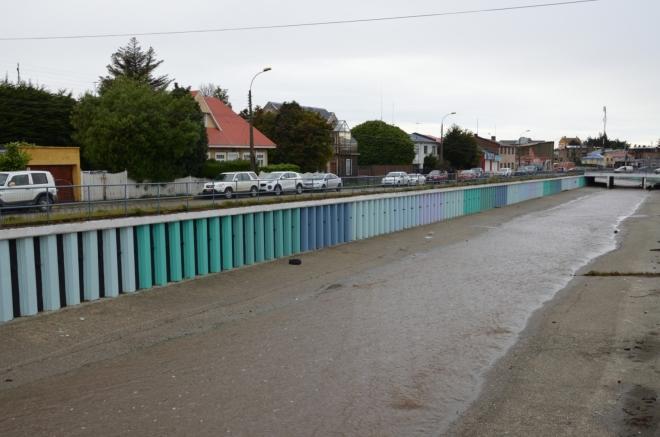 Río de las Minas, upravená řeka