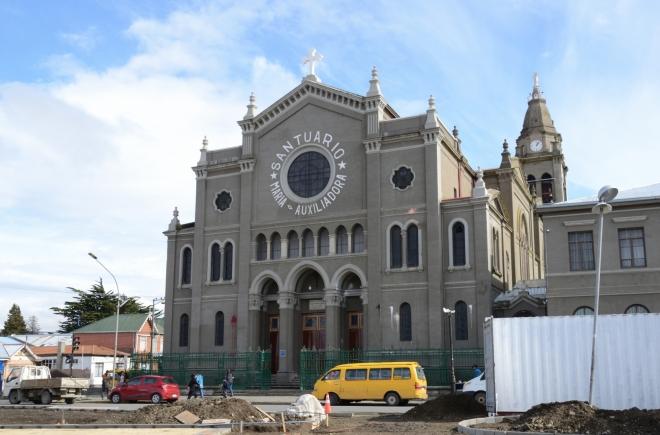 Kostel na konci hlavní třídy