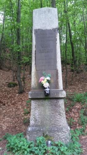 Pomník zvaný U četníka (v tomto místě tragicky zahynul četnický závodčí Karel Dvořák,který cestou z Čerchova do Capartic v noci v květnu 1906 spadl se skály a šavlí si přetnul tepny na noze,která mu vypadla z pochvy)