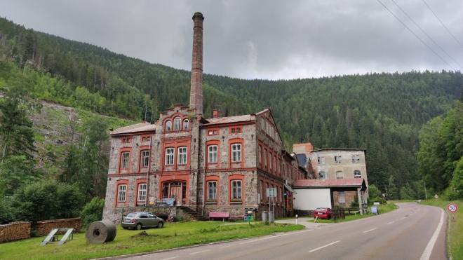 Památkově chráněná brusírna dřeva mlynáře Dixe z roku 1868.