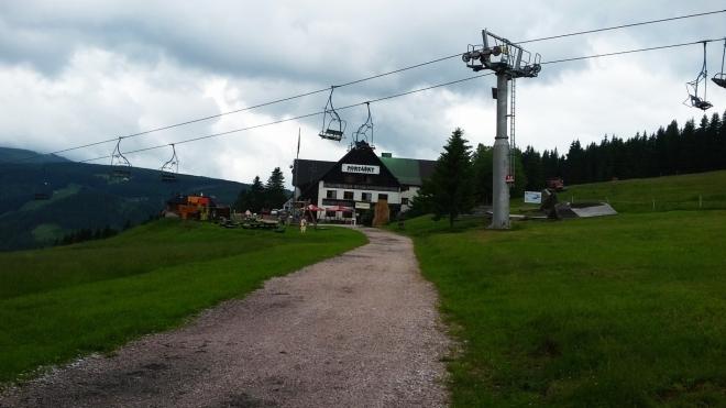 U horní části lanovky Velká Úpa - Portášky.