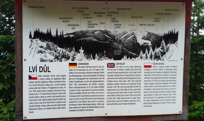 Lví Důl-situační mapka.