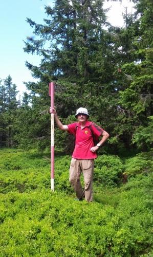 Na vrcholu Malého Máje (1 182 m n. m.).