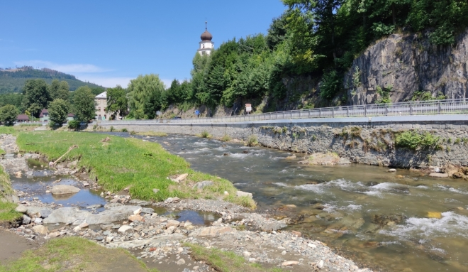 Řeka Bělá...