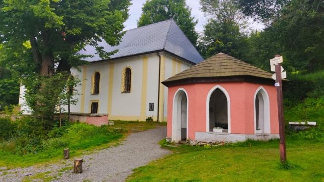 Kostel sv. Vintíře v Dobrě Vodě.
