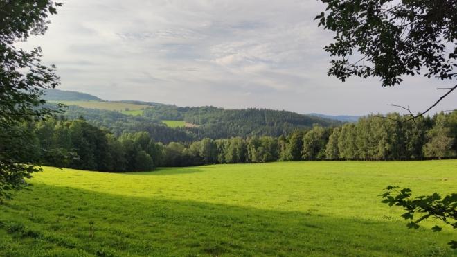 Pekelské údolí u potoka Volšovka.