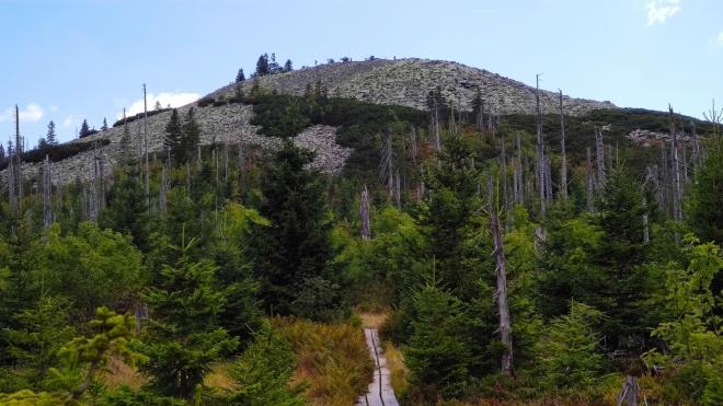 Kamenitý vrchol Luzného pozná každý milovník Šumavy.