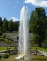 Až tak vysoko stříkala voda z vodotrysku u zámku Linderhof.