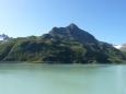 Cíl naší cesty tyčící se nad přehradou Silvretta-Stausee