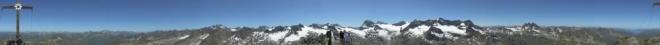 2 pi panorama z Hohesrad (2 pi = 360 stupňů)