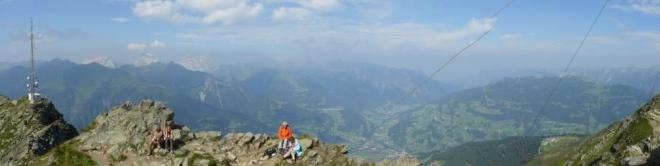 Panorama z Kreuzjochu, prvního ze tří vrcholů toho dne
