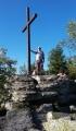Na vrcholu Bílé skály (964 m n.m.).